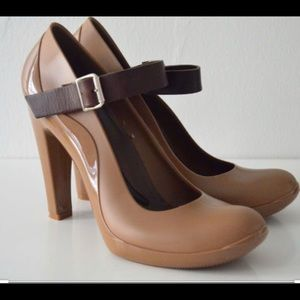 Marni Rubber and leather Mary Janes